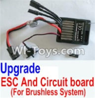 HBX 12881 VORTEX Parts-Upgrade Brushless ESC and Circuit board Parts-12216,HaiBoXing HBX 12881 VORTEX RC Car Parts