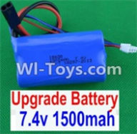 HBX 12881 VORTEX Parts-Battery Parts-Upgrade 7.4V 1500MAH Battery(1pcs) Parts-12225,HaiBoXing HBX 12881 VORTEX RC Car Parts