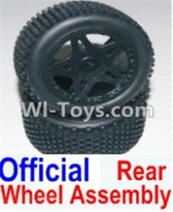 HBX 12881 VORTEX Parts-wheel Parts-Official Rear wheel assembly(2 set)-Include Tire lether and wheel hub Parts-12039,HaiBoXing HBX 12881 VORTEX RC Car Parts