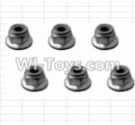 HBX 12881 VORTEX Parts-M4 Flange Lock Nut(6pcs) Parts-H003,HaiBoXing HBX 12881 VORTEX RC Car Parts