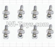 HBX 12881 VORTEX Parts-Ball Stud(8pcs) Parts-H013,HaiBoXing HBX 12881 VORTEX RC Car Parts