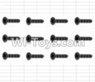 HBX 12881 VORTEX Parts-Screws Parts-Countersunk Self Tapping Screws(12pcs)-2X15mm Parts-S011,HaiBoXing HBX 12881 VORTEX RC Car Parts