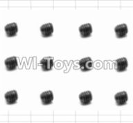 HBX 12881 VORTEX Parts-Screws Parts-Set Screw(12pcs)-3X3mm Parts-S016,HaiBoXing HBX 12881 VORTEX RC Car Parts