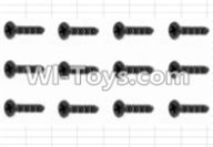 HBX 12881 VORTEX Parts-Screws Parts-Countersunk Self Tapping Screw(12pcs)-2.6X8mm Parts-S020,HaiBoXing HBX 12881 VORTEX RC Car Parts