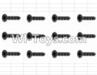 HBX 12881 VORTEX Parts-Screws Parts-Countersunk Self Tapping Screw(12pcs)-2X9mm Parts-S038,HaiBoXing HBX 12881 VORTEX RC Car Parts