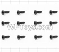 HBX 12881 VORTEX Parts-Screws Parts-Round Head Self Tapping Screw(12pcs)-2.6X6mm Parts-S089,HaiBoXing HBX 12881 VORTEX RC Car Parts