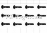 HBX 12881 VORTEX Parts-Screws Parts-Countersunk Self Tapping Screw(12pcs)-2.6X10mm Parts-S138,HaiBoXing HBX 12881 VORTEX RC Car Parts