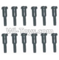 HBX 12881 VORTEX Parts-Screws Parts-Step Screws(12pcs)-3.5X4.5-3X4.6mm Parts-S152,HaiBoXing HBX 12881 VORTEX RC Car Parts