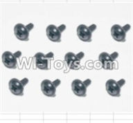 HBX 12881 VORTEX Parts-Screws Parts-Flange Head Self Tapping Screws(12pcs)-2X6mm Parts-S164,HaiBoXing HBX 12881 VORTEX RC Car Parts