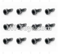 HBX 12881 VORTEX Parts-Screws Parts-Cap Head Screws(12pcs)-2X6mm Parts-S165,HaiBoXing HBX 12881 VORTEX RC Car Parts