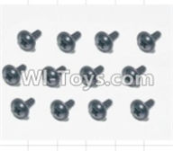 HBX 12881 VORTEX Parts-Screws Parts-Flange Head Self Tapping Screws(12pcs)-2.3X8mm Parts-S167,HaiBoXing HBX 12881 VORTEX RC Car Parts