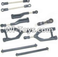 HBX 12882P ONSLAUGHT Parts-Parts-Front Upper or Rear Upper Swing Arm & Steering Linkage set & Servo Linkage Set & Servo shaft Parts-12003,HaiBoXing HBX 12882P ONSLAUGHT RC Car Parts