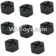 HBX 12882P ONSLAUGHT Parts-Hexagon Wheel Seat(8pcs) Parts-12010,HaiBoXing HBX 12882P ONSLAUGHT RC Car Parts