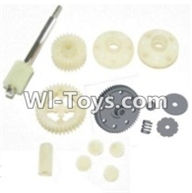 HBX 12882P ONSLAUGHT Parts-Spur Gear & Differential Gears Assembly Parts-12011P,HaiBoXing HBX 12882P ONSLAUGHT RC Car Parts