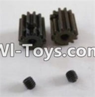 HBX 12882P ONSLAUGHT Motor Pinion Gears(2pcs)-13Teeth & Set Screws-3X3mm(2pcs) Parts-12026,HaiBoXing HBX 12882P ONSLAUGHT RC Car Parts