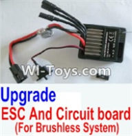 HBX 12882P ONSLAUGHT Parts-Upgrade Brushless ESC and Circuit board Parts-12216,HaiBoXing HBX 12882P ONSLAUGHT RC Car Parts