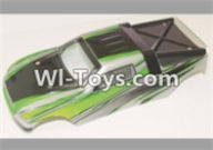 HBX 12882P ONSLAUGHT Parts-Body shell Parts-Car canopy,Shell cover-Green Parts-12071,HaiBoXing HBX 12882P ONSLAUGHT RC Car Parts