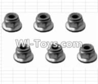 HBX 12882P ONSLAUGHT Parts-M3 Flange Lock Nut(6pcs) Parts-12043,HaiBoXing HBX 12882P ONSLAUGHT RC Car Parts