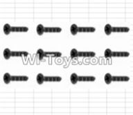 HBX 12882P ONSLAUGHT Parts-Screws Parts-Countersunk Self Tapping Screws(12pcs)-2X15mm Parts-S011,HaiBoXing HBX 12882P ONSLAUGHT RC Car Parts