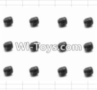 HBX 12882P ONSLAUGHT Parts-Screws Parts-Set Screw(12pcs)-3X3mm Parts-S016,HaiBoXing HBX 12882P ONSLAUGHT RC Car Parts