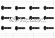 HBX 12882P ONSLAUGHT Parts-Screws Parts-Countersunk Self Tapping Screw(12pcs)-2.6X8mm Parts-S020,HaiBoXing HBX 12882P ONSLAUGHT RC Car Parts
