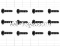 HBX 12882P ONSLAUGHT Parts-Screws Parts-Countersunk Self Tapping Screw(12pcs)-2X9mm Parts-S038,HaiBoXing HBX 12882P ONSLAUGHT RC Car Parts