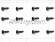 HBX 12882P ONSLAUGHT Parts-Screws Parts-Round Head Self Tapping Screw(12pcs)-3X6mm Parts-S071,HaiBoXing HBX 12882P ONSLAUGHT RC Car Parts