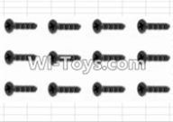 HBX 12882P ONSLAUGHT Parts-Screws Parts-Countersunk Self Tapping Screw(12pcs)-2.6X10mm Parts-S138,HaiBoXing HBX 12882P ONSLAUGHT RC Car Parts