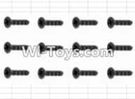 HBX 12882P ONSLAUGHT Parts-Screws Parts-Countersunk Self Tapping Screw(12pcs)-2.6X18mm Parts-S162,HaiBoXing HBX 12882P ONSLAUGHT RC Car Parts