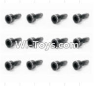 HBX 12882P ONSLAUGHT Parts-Screws Parts-Cap Head Screws(12pcs)-2X6mm Parts-S165,HaiBoXing HBX 12882P ONSLAUGHT RC Car Parts