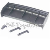 HBX 12883 GROUND CRUSHER Parts-Tail wing & Column for the Car canopy Parts-12013,HaiBoXing HBX 12883 RC Car Parts