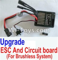 HBX 12883 GROUND CRUSHER Parts-Upgrade Brushless ESC and Circuit board Parts-12216,HaiBoXing HBX 12883 RC Car Parts