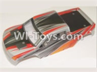 HBX 12883 GROUND CRUSHER Parts-Body Shell Parts-Car canopy,Shell cover-Red Parts-12080,HaiBoXing HBX 12883 RC Car Parts