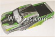 HBX 12883 GROUND CRUSHER Parts-Body Shell Parts-Car canopy,Shell cover-Green Parts-12081,HaiBoXing HBX 12883 RC Car Parts