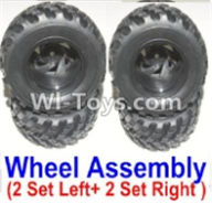 HBX 12883 GROUND CRUSHER Parts-wheel Parts-Official Left and Right wheel assembly(4 set-2x Left and 2X Right) Parts-12059,HaiBoXing HBX 12883 RC Car Parts