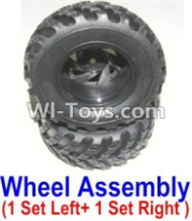 HBX 12883 GROUND CRUSHER Parts-wheel Parts-Official Left and Right wheel assembly(2 set-1x Left and 1X Right) Parts-12059,HaiBoXing HBX 12883 RC Car Parts