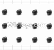 HBX 12883 GROUND CRUSHER Parts-Screws Parts-Set Screw(12pcs)-3X3mm Parts-S016,HaiBoXing HBX 12883 RC Car Parts