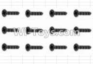 HBX 12883 GROUND CRUSHER Parts-Screws Parts-Countersunk Self Tapping Screw(12pcs)-2.6X8mm Parts-S020,HaiBoXing HBX 12883 RC Car Parts