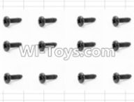 HBX 12883 GROUND CRUSHER Parts-Screws Parts-Round Head Self Tapping Screw(12pcs)-3X6mm Parts-S071,HaiBoXing HBX 12883 RC Car Parts