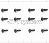 HBX 12883 GROUND CRUSHER Parts-Screws Parts-Round Head Self Tapping Screw(12pcs)-2.6X6mm Parts-S089,HaiBoXing HBX 12883 RC Car Parts