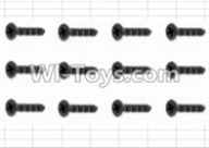 HBX 12883 GROUND CRUSHER Parts-Screws Parts-Countersunk Self Tapping Screw(12pcs)-2.6X10mm Parts-S138,HaiBoXing HBX 12883 RC Car Parts