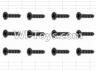 HBX 12883 GROUND CRUSHER Parts-Screws Parts-Countersunk Self Tapping Screw(12pcs)-2.6X18mm Parts-S162,HaiBoXing HBX 12883 RC Car Parts