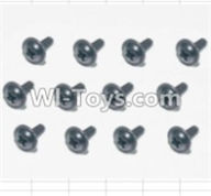 HBX 12883 GROUND CRUSHER Parts-Screws Parts-Flange Head Self Tapping Screws(12pcs)-2X6mm Parts-S164,HaiBoXing HBX 12883 RC Car Parts