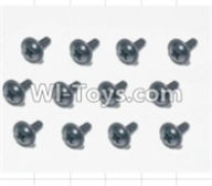 HBX 12883 GROUND CRUSHER Parts-Screws Parts-Flange Head Self Tapping Screws(12pcs)-2.3X8mm Parts-S167,HaiBoXing HBX 12883 RC Car Parts