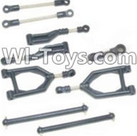 HBX 12885 Iron Hammer Parts-Front Upper or Rear Upper Swing Arm & Steering Linkage set & Servo Linkage Set & Servo shaft Parts-12003,HaiBoxing HBX 12885 Iron Hammer RC Car Spare Parts