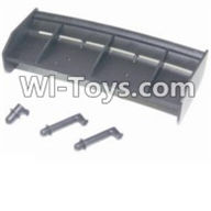 HBX 12885 Iron Hammer Parts-Tail wing & Column for the Car canopy Parts-12013,HaiBoxing HBX 12885 Iron Hammer RC Car Spare Parts
