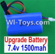 HBX 12885 Iron Hammer Parts-Upgrade 7.4V 1500MAH Battery(1pcs) Parts-12225,HaiBoxing HBX 12885 Iron Hammer RC Car Spare Parts