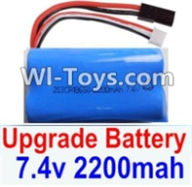 HBX 12885 Iron Hammer Parts-Upgrade 7.4V 2200mah Battery(1pcs) Parts-,HaiBoxing HBX 12885 Iron Hammer RC Car Spare Parts
