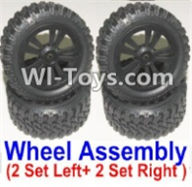 HBX 12885 Iron Hammer Parts-Official Left and Right wheel assembly(4 set-2x Left and 2X Right) Parts-12065,HaiBoxing HBX 12885 Iron Hammer RC Car Spare Parts