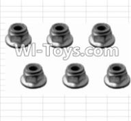 HBX 12885 Iron Hammer Parts-M4 Flange Lock Nut(6pcs) Parts-H003,HaiBoxing HBX 12885 Iron Hammer RC Car Spare Parts